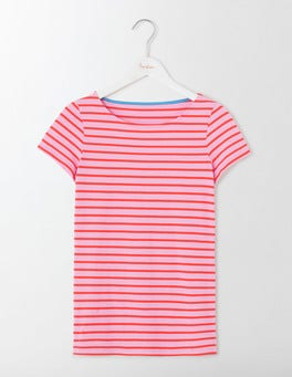 Lavender Rose/Dahlia Red Short Sleeve Breton
