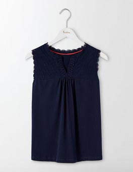 Navy Vitoria Jersey Top