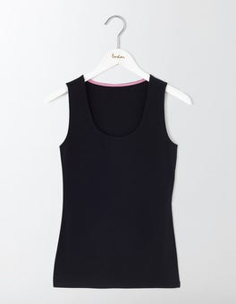 Black Double Layer Front Vest