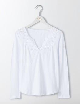 White Heidi Jersey Top