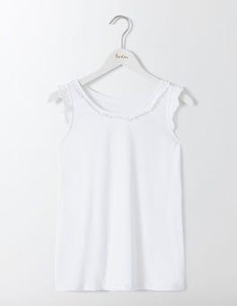White Carla Frill Neck Vest