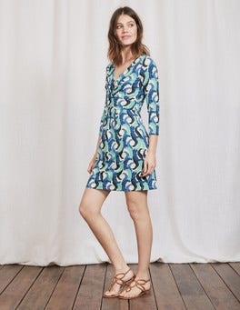 Blues Acanthus Leaf Marion Jersey Tunic