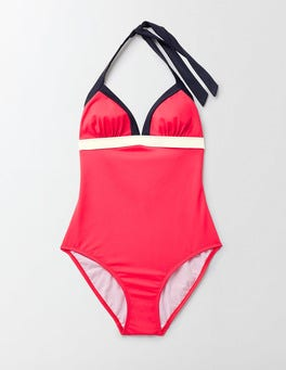 Strawberry Sundae Colourblock Ischia Halter Swimsuit