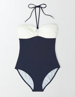 Navy/Ivory Colourblock Lido Swimsuit