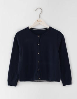 Navy Favourite Crop Cardigan