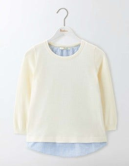 Nora Woven Mix Sweater