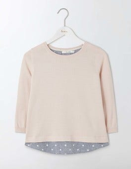 Pink Pearl Nora Woven Mix Jumper