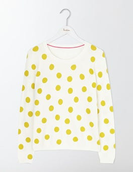 Mimosa Scattered Spot/Navy Priscilla Printed Jumper