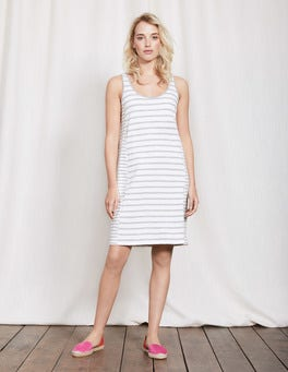 Ivory Grey Marl Striped Seam Tunic Dress