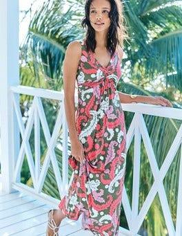 Twist Front Jersey Maxi Dress