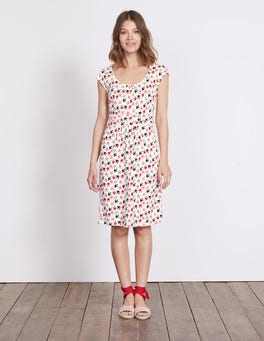 Ivory Swallow Swoop Margot Jersey Dress