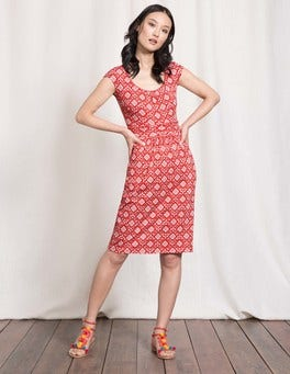 Snapdragon Collage Print Margot Jersey Dress