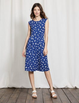 Imperial Blue Large Confetti Marina Jersey Dress