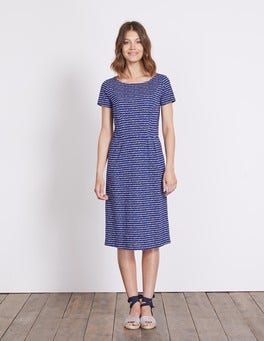 Greek Blue Postcard Phoebe Jersey Dress