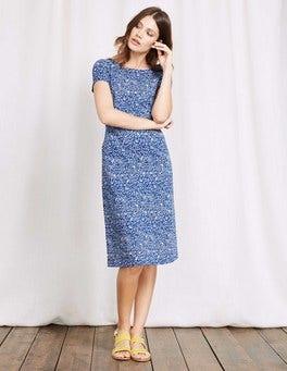 Island Sapphire Mono Vine Phoebe Jersey Dress