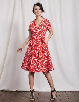 Snapdragon Shadow Floral Lara Wrap Dress