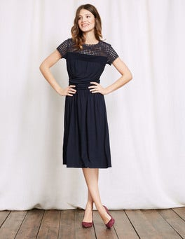 Navy Angeline Jersey Dress