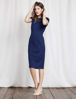 Imperial Blue Hera Ponte Dress