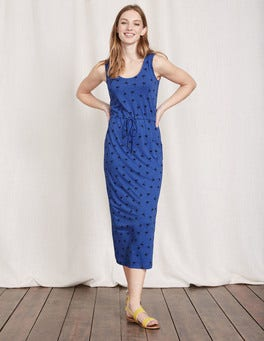 Santorini Blue Flamingos Greta Jersey Dress