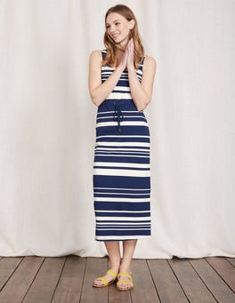 Imperial Blue/Ivory Stripe Greta Jersey Dress