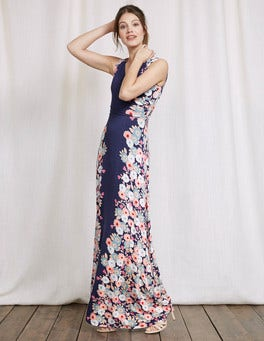Imperial Blue Blossom Georgia Maxi Dress