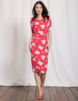 Summer Poppy Blossom Pop Terese Jersey Dress