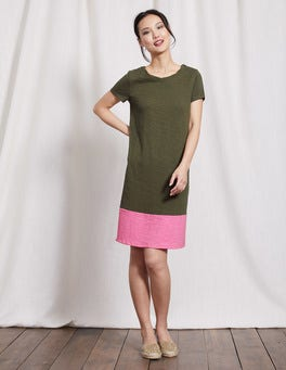 Kale/Plum Blossom Coralie Jersey Dress