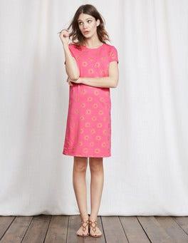 Vivid Pink Sunray Print Coralie Jersey Dress