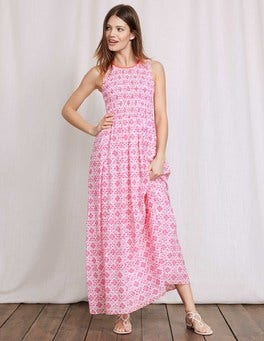 Mid Pink/Ivory Collage Terese Dress