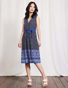 Blue Scarf Ellie Dress