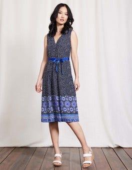 Blue Scarf Ellie Dress