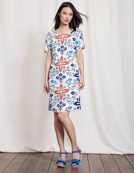 Multi Collage Placement Delfina Dress