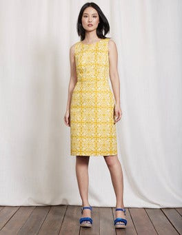Mimosa Woodblock Floral Talia Dress