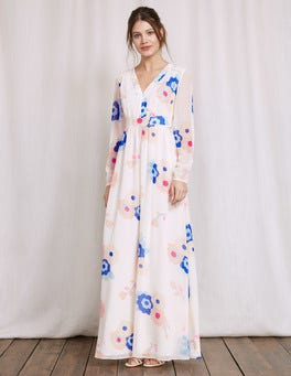 Ecru Large Blossom Helene Dress