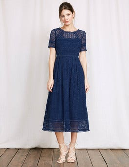 Imperial Blue Althea Lace Dress