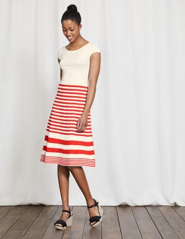 Ivory/Snapdragon Stripe Harriet Knitted Dress