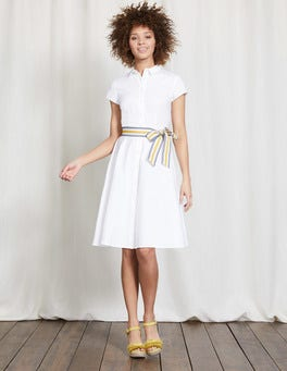 White Sophia Shirt Dress