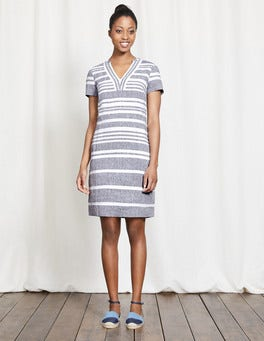 Navy and Ivory Stripe Rosemary Dress