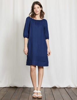 Imperial Blue Henrietta Linen Dress