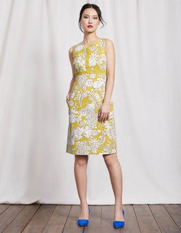 Mimosa Yellow Fresco Floral Vivienne Dress