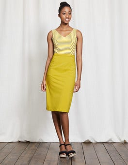 Mimosa Yellow Belle Ponte Dress