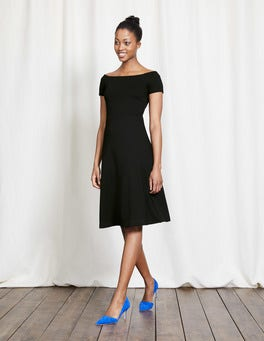 Black Hazel Ponte Dress