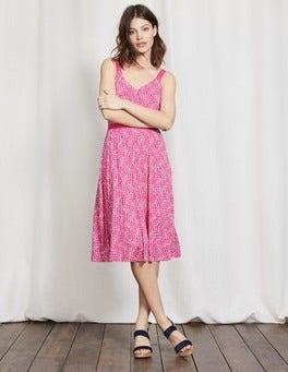 Mid Pink Mono Vine Jemma Jersey Dress