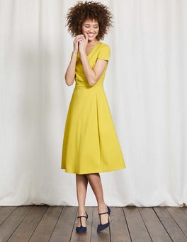 Mimosa Yellow Alicia Ponte Dress