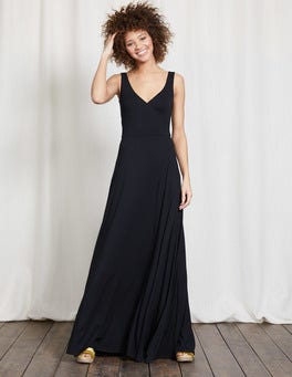 Black Full Skirt Maxi Dress