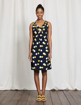 Navy Pop Spot Tarifa Dress
