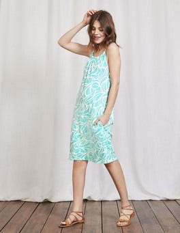 Tropical Blue Swirl Frances Jersey Dress