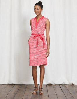 Coral Reef Pompom Spot Elodie Jersey Dress