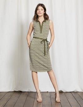 Kale Pompom Spot Elodie Jersey Dress