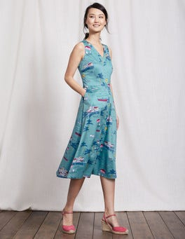 Delphinium Blue Beach Josephine Dress
